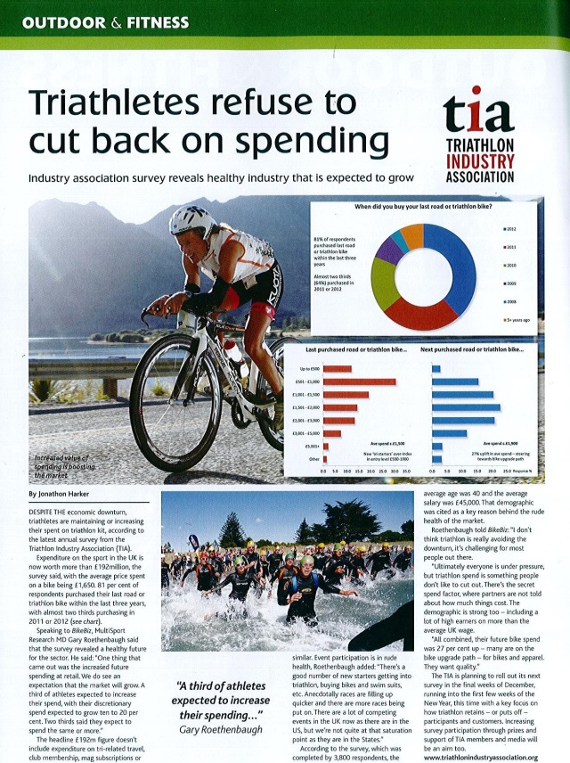 BikeBiz_Triathletes refuse to cut back on spending