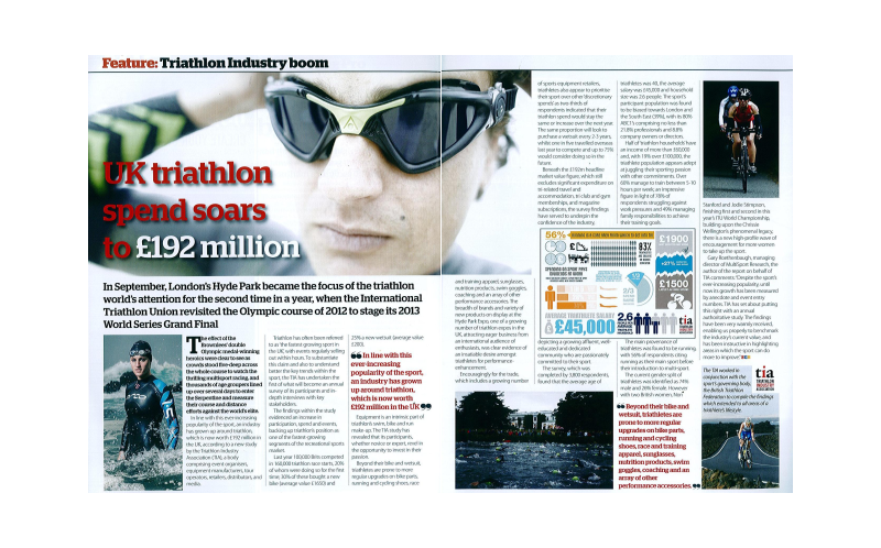 Triathlon industry boom witnessed by Sporting Goods Business